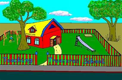 Drawing Teaching Buildings Teachers Cartoon Building Mistake