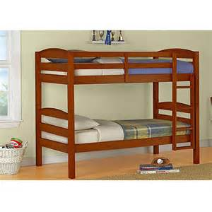 mainstays twin over twin bunk bed multiple colors with 2 twin mattresses seo walmart com