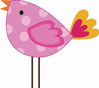 Girly Bird Clipart Pink Pretty Animals Jungle