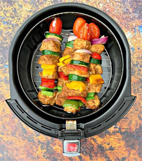 fryer air chicken grilled kebabs cook temperature easy internal plate