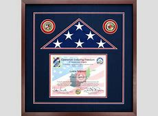 Flag Case For An American Flag Flown During Operation