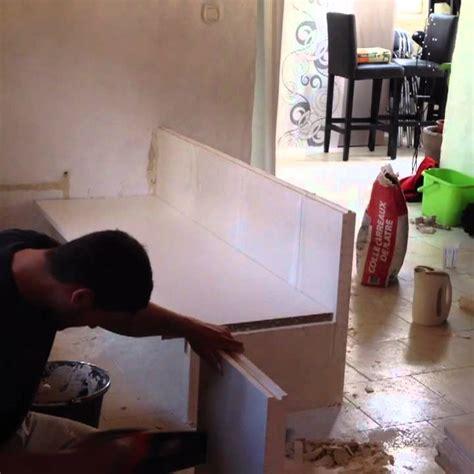 création d 39 un meuble de cuisine en carreau de plâtre