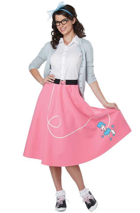 brand   pink poodle skirt grease pink ladies adult