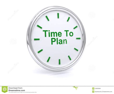 Time To Plan On Clock Face Stock Images  Image 24893984