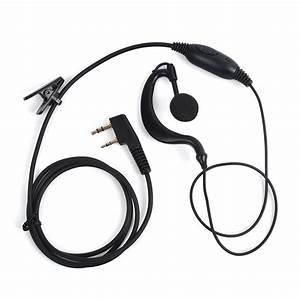 3 Pack Classic Black G Type Headset Earplugs 2 Pin Kenwod