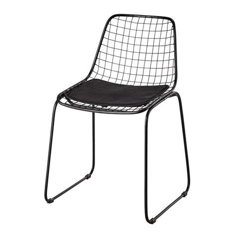 chaise en métal chaise en métal noir picpus maisons du monde