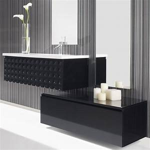 Grand Meuble Salle De Bain : meuble salle de bain 100 cm 1 tiroir vasque composite capiton ~ Teatrodelosmanantiales.com Idées de Décoration