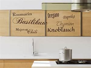 Kräuter Für Die Küche : wandtattoos f r die k che w nde schr nke in k chen versch nern ~ Markanthonyermac.com Haus und Dekorationen