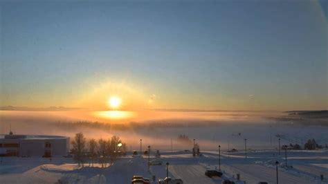winter solstice  fairbanks alaska december