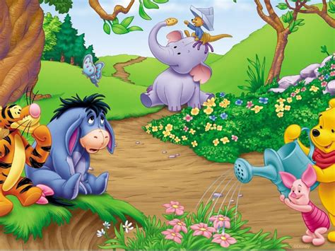 garden  winnie  pooh hd wallpaper  desktop