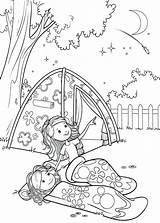 Camping Coloring Tent Getdrawings sketch template