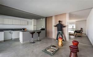 porte coulissante separation salon cuisine casas With cuisine cachee par des portes