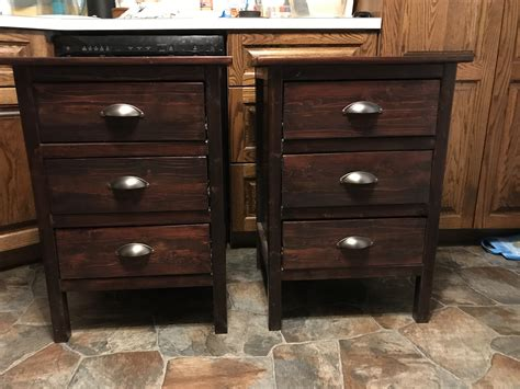 ana white reclaimed wood  nightstands diy projects