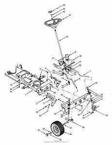 Mtd 13au609h131  1999  Parts Diagram For Steering Assembly