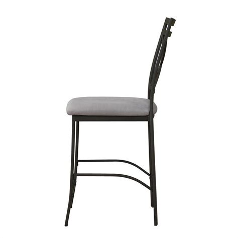 24 quot crossback counter stool in black coffee and gray wm3669c