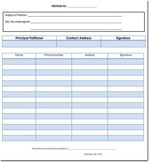petition templates create   petition