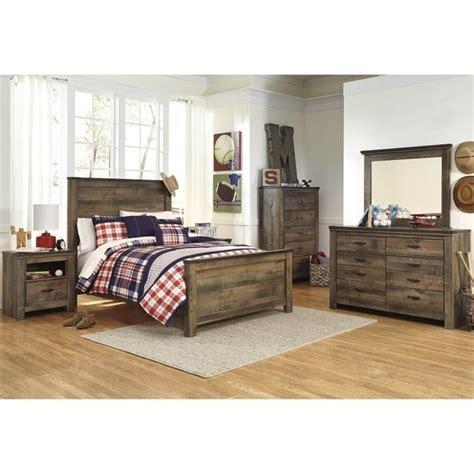ashley trinell  piece wood full panel bedroom set