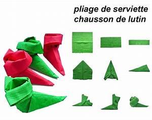 Pliage Serviette En Papier Noel : tuto pliages de serviettes de no l le trio cr atif ~ Farleysfitness.com Idées de Décoration