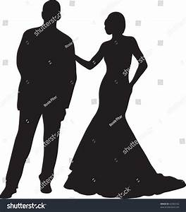 Silhouette Of A Man And Woman Standing Together   www ...