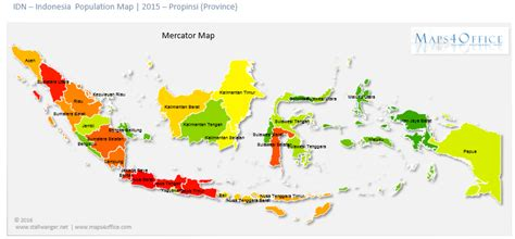 indonesia map population density