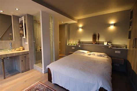 photo chambre parentale avec salle de bain et dressing suite parentale avec salle de bain ouverte chambre