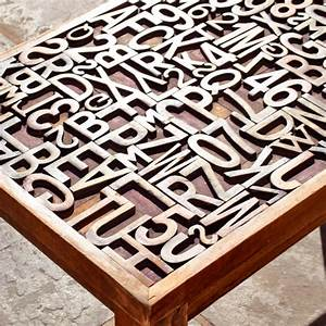 17 best images about wood type on pinterest coffee table With letter coffee table