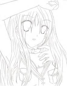Anime Girl Drawing Outline
