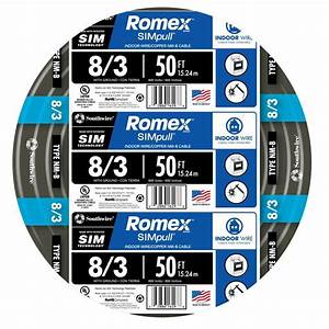 Southwire 50 Ft  8  3 Stranded Romex Simpull Cu Nm G