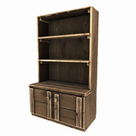 Cupboard Models For by 3d Model Wooden Cupboard Vr Ar Low Poly Obj Fbx