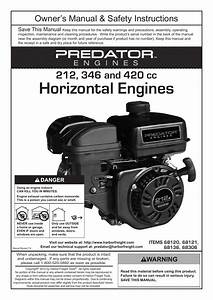 Harbor Freight Tools Predator Engines 212 User Manual