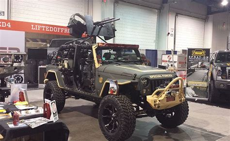 jeep wrangler military style military jeep wrangler jk at sema http timbren com 2014