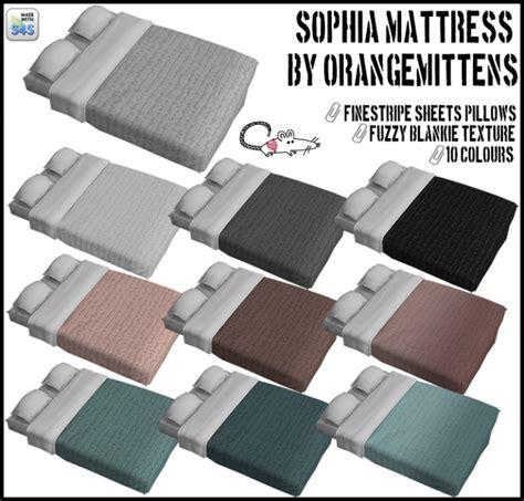 orangemittens sophia mattress recolors  loverat sims