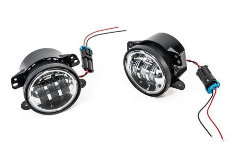 jeep tj led fog lights j w speaker 6145 led fog light kit for 07 13 jeep