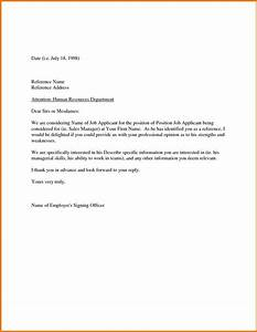 Sample Recommendation Letter From Employer Appeal Letters