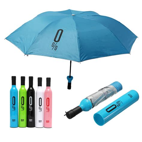 compact automatic umbrella fashion wine bottle folding anti uv parasol sun gear alex nld