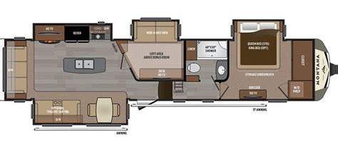 Montana 5th Wheel Bunkhouse Floor Plans by Montana 3950br Mid Bunk Floor Plan Office Bunk 41