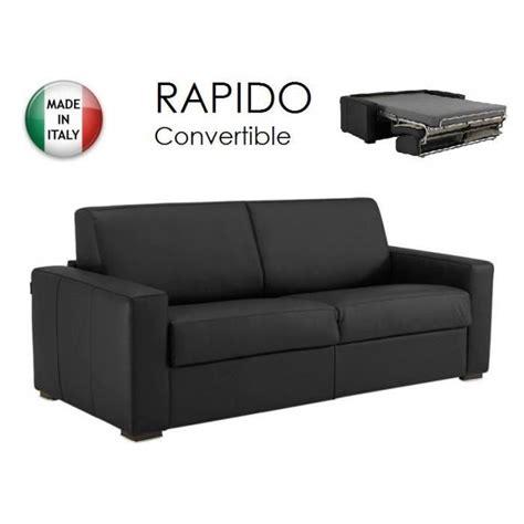 canape convertible cdiscount canape rapido cuir noir achat vente canape rapido cuir