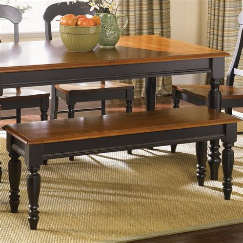country kitchen tables with benches liberty furniture low country 80 c9000b bench with turned 8464