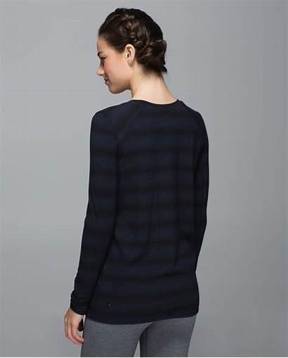 Zen Lululemon Capilano Sleeve Heathered Inkwell Stripe