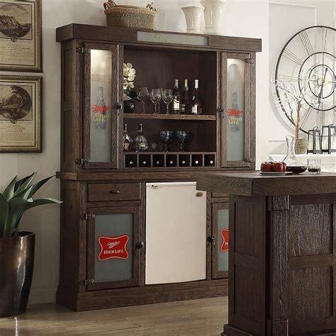 Bar Hutch by Miller High Back Bar W Hutch By Eci Furniture