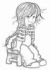 Coloring Tomboy Sheets July Card Characters Would Copic Colouring Adult Denim Stamps 4th Printable Candy Female Overalls Stripes Board sketch template