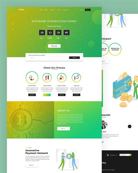 10+ best cryptocurrency templates for websites. Cypo - Free Bitcoin HTML Website Template