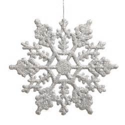 christmas decorations store club pack of 24 silver splendor glitter snowflake christmas