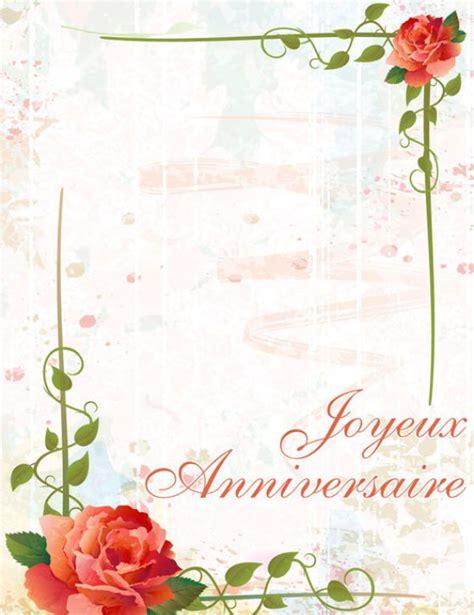 vintage flower carte anniversaire  imprimer cartes