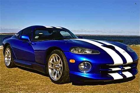 Dodge Viper Blue by Buy Used 1997 Dodge Viper Gts Beautiful Viper Blue With