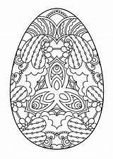 Easter Egg Zentangle Coloring Pasqua Uovo Pascua Osterei Nero Bianco Huevo Paasei Decorative Decorativos Colorare Mandala Schwarzweiss Dekoratives раскраски Decoratief sketch template