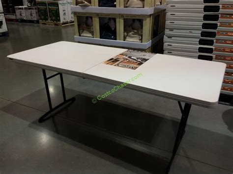 Lifetime 6' Fold In Half Table #80264  Costcochaser. 6 Drawer Dresser White. Pqrs Help Desk. Modular Storage Drawers. Hammered Copper Coffee Table. Desk Set Hepburn. Small Square Table. Ham Radio Desk Plans. Expandable Dining Table