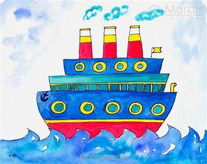 Kids Mural Ideas With Ship Theme Wallpaper Mural Ideas ...