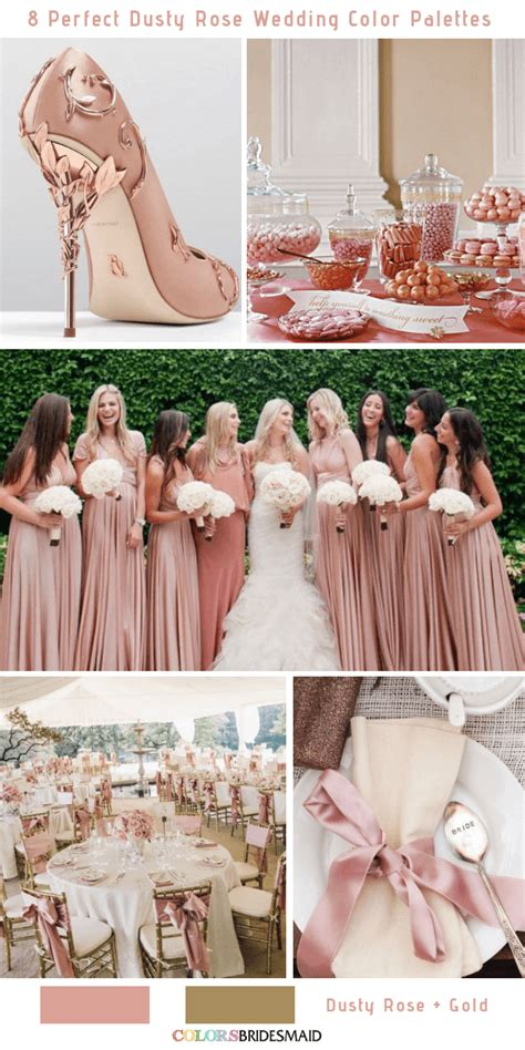 All 20+ Summer Wedding Color Palettes Dusty rose