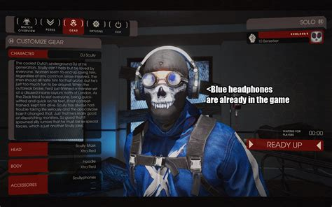 killing floor 2 dj skully dj scully xtra blue killing floor 2 gt skins gt characters gamebanana